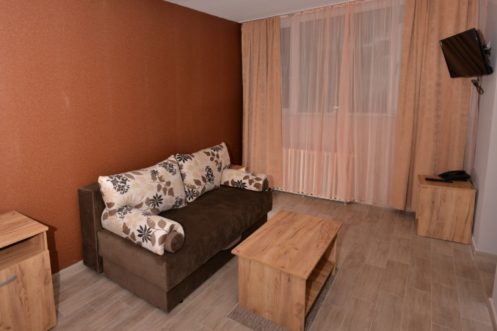 """Hotel """"Timok"""" raspolaže sa 2 apartmana. Sve sobe ovog tipa su opremljene sa pažljivo biranim detaljima za vaš maksimalan ugođaj.      … Vidi detalje"""